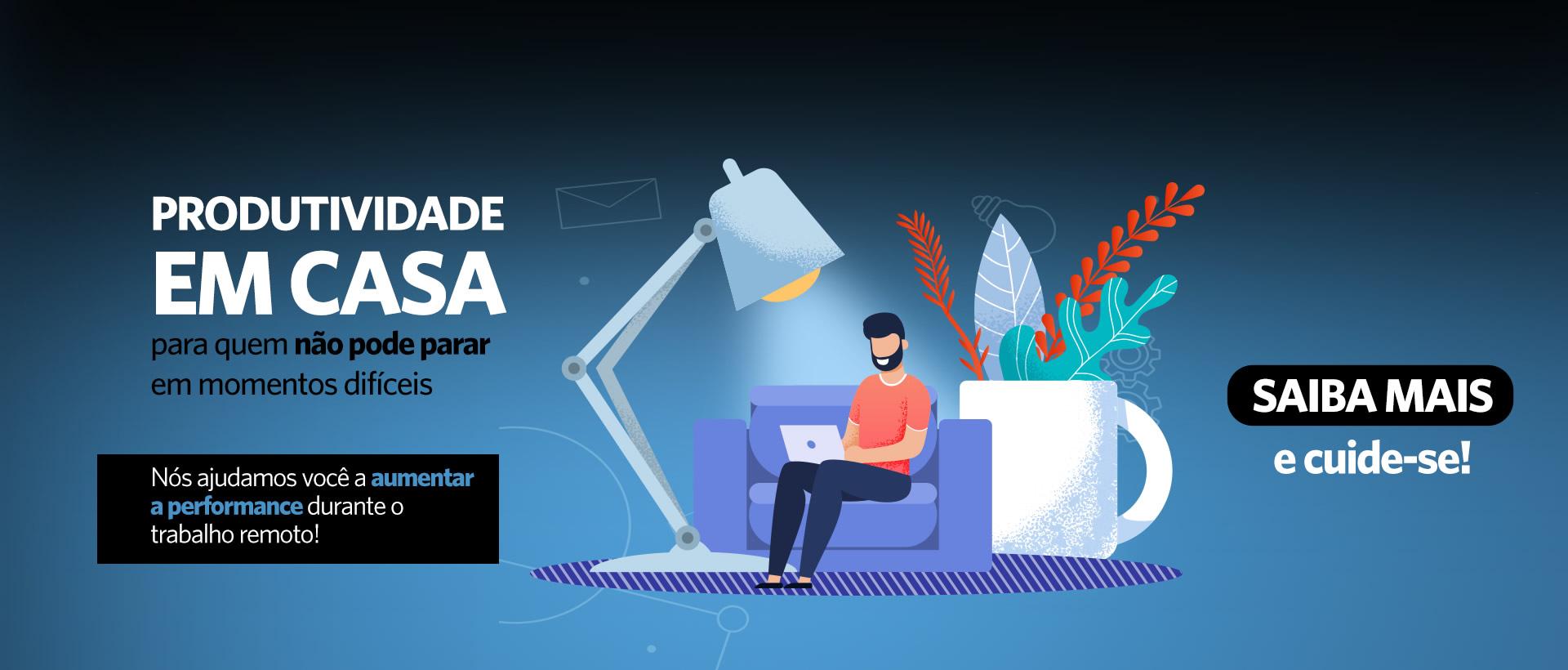 Produtividade em casa Desktop - escuro